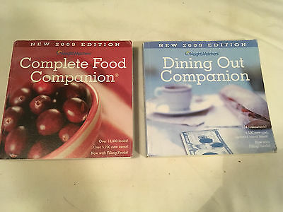 Lot WEIGHT WATCHERS 2009 Edition DINING OUT COMPANION points COMPLETE FOOD