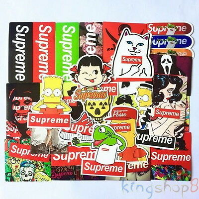 25 x Supreme Skateboard Sticker Mix Waterproof Car Phone Guitar Laptop toy decal