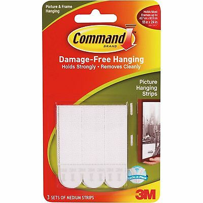3M COMMAND Medium Adhesive Strips 17201 | Picture Poster DamageFree Wall Hanging