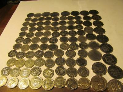 Lot Of 100 Mixed Jamaica Coins