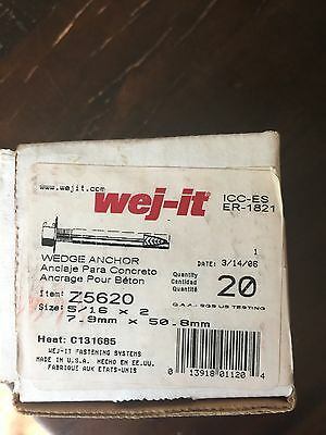 wej-it  wedge anchor 5/16x 2