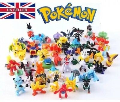 Pokemon Go 24 Mini Figures Kids Loot Party Bag Fillers Pikachu Pokeball UK