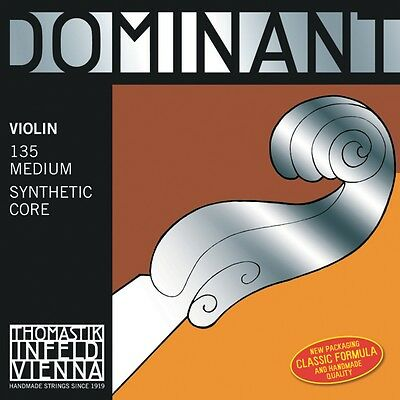 Thomastik Dominant 4/4 Size Violin Strings 4/4 Set, Steel E String, Ball End