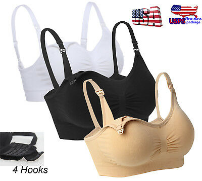 US Women Wire Free Nursing Bra Maternity Breastfeeding Pregnant Bras Underwear#