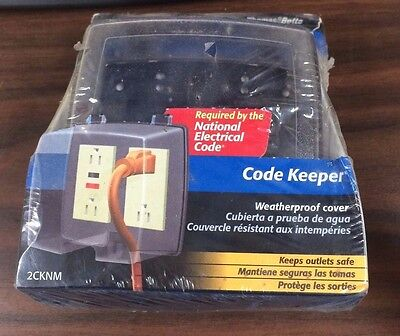 2CKNM Thomas&Betts Code Keeper Weatherproof Outlet Cover 1 Kit 8 Configurations