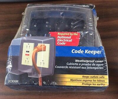 thomas betts code keeper weatherproof outlet cover 1 kit 8