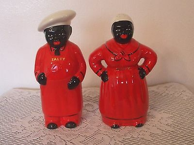 """Red """"salty And Peppy"""" Salt And Pepper Shakers"""