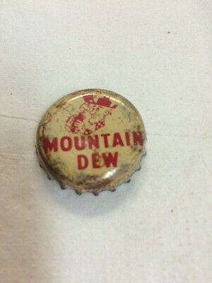 VIntage Hillbilly Mountain Dew Soda Bottle Cap By Pepsi-Cola Canada Used Cork
