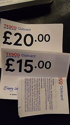 Tesco Clubcard vouchers £35 in value ( worth 4x more)