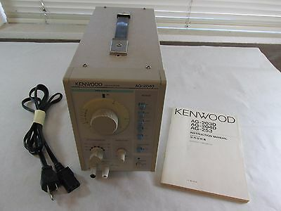 Oscillator  Kenwood Ag-204D W/ Manual Powers On / Not Tested