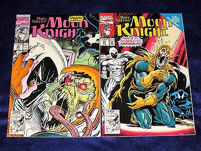 Lot of 2 MARC SPECTOR: MOON KNIGHT Issues #32, 33 [Marvel 1991] VF/NM Or Better