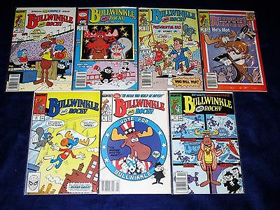 Lot of 7 BULLWINKLE and Rocky Issues #3 - 9 [Marvel 1988] VF/NM Or Better!