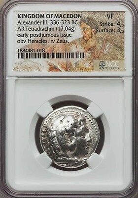 NGC VF 4/5 - 3/5. Alexander the Great. Tetradrachm. Ancient Greek Silver Coin
