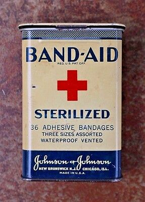 Vintage 1920's/1930's Johnson & Johnson Band-Aid Tin