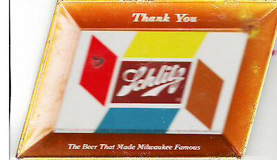 Orig 1950s Schlitz Beer Tip Tray (or Ashtray) 5x7 Inches Excellent Condition