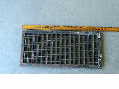 Vintage Steel Floor Heat Grate Register Vent 26 x 12