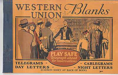 VTG Western Union blanks telegrams & cablegrams Hotel scene with 24 blanks