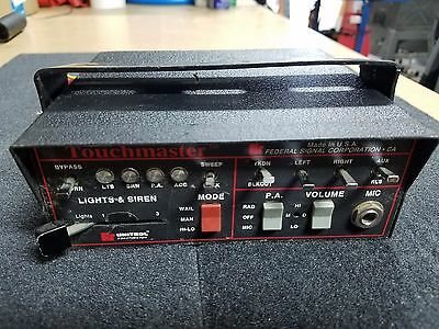 Federal Signal Unitrol Touchmaster Control Unit With Microphone