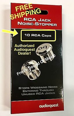 Audioquest RCA Plug Noise Stopper Caps For Unused RCA Jacks On Your Gear! Qty10