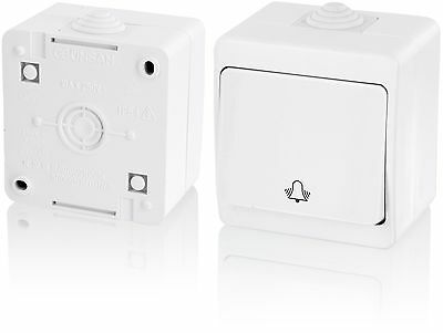 IP54Moisture-Proof Switch with Bell SymbolPure All-In-One Frame + Insert + Co...