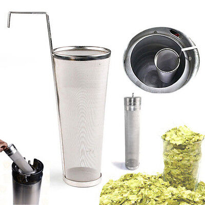 Home Brew 300 Micron Stainless Keg Dry Hopper Mesh Filter+Hop Spider Beer Making