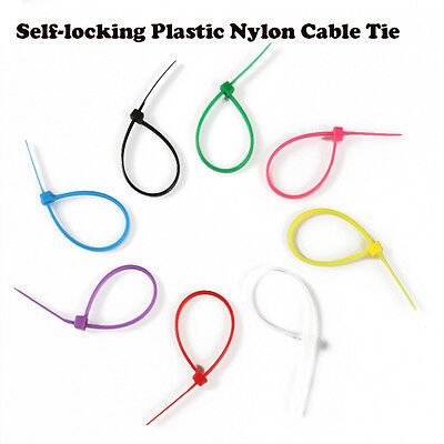 100pcs/bag 3*150MM Colorful Self-Locking Nylon Wire Cable Zip Ties