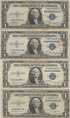 1935 Circulated One Dollar Silver Certificate Bills $1 Lot of 11