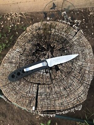 Benchmade 625S-BLK Black Crawford Leopard Knife - ATS-34- Rare And Discontinued