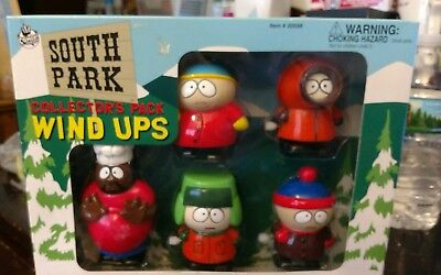 1998 South Park Collectors Pack Wind Ups.. Box Has A Cut In The Side