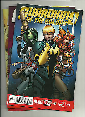 LOT OF 3: GUARDIANS OF THE GALAXY #'s 10,12,13 {2014 MARV} 1ST PRTS NEW/UNREAD!