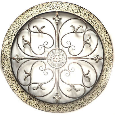 Abstract Metal Wall Art Hanging Modern Sculpture Shabby Ornate Scroll 82cm