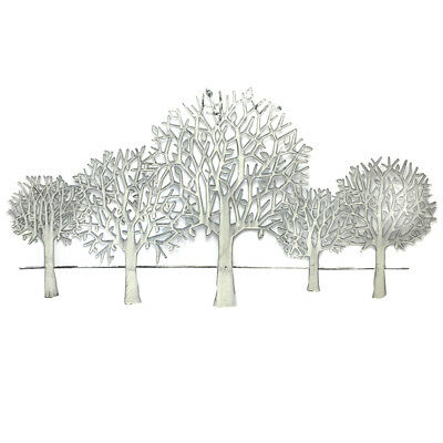 Wall Art Tree Scenery Hanging Metal Iron Sculpture BIG Shabby Modern 84cm