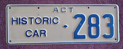 Historic Car Act  License Number Plate # 283