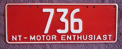 Motor Enthusiast Nt  License Number Plate # 736