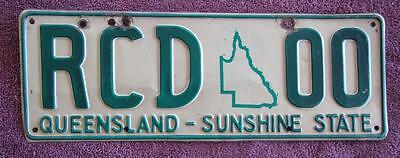 Map Graphic Queensland  License Number Plate # Rcd*00