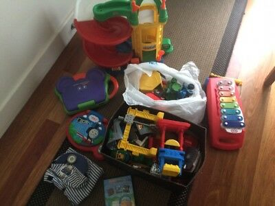 Assorted Toys - Geotrak Train, IQ builder, Bob the Builder, xylophone & More