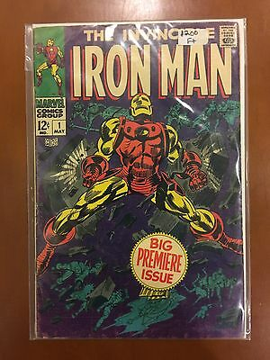 IRON MAN Issue #1 (Marvel Comics 1968) BIG PREMIERE ISSUE OW Pages & Unrestored!
