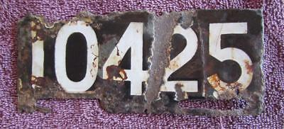 Porcelain Motorcycle Wa  License Number Plate # 10425