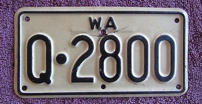 Quairading Motorcycle Wa  License Number Plate # Kq.2800