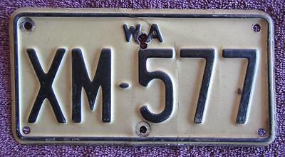 1968-78 Motorcycle Wa  License Number Plate # Xm.577