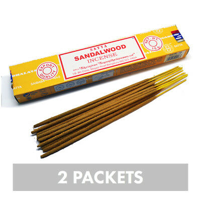 'Satya' Nag Champa Sandalwood Incense Sticks (2 x 15gm Packets)