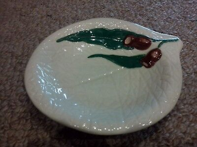 Australian Pottery Wembley Ware Gumleaves/nuts Pin Dish