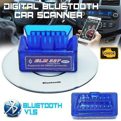 SUPER MINI OBD2 OBDII ELM327 v1 5 Android Bluetooth Adapter Auto Scanner  Torque