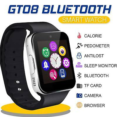 1.54? Bluetooth Smart Touch Screen Wrist Watch GT08 Phone Mate For IOS & Android