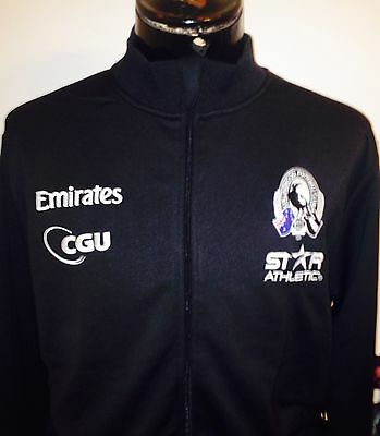 Afl Collingwood Magpies Side By Side Bnwts Jacket Track Top Shirt Jumper