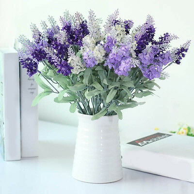 Fashion 10 Heads Artificial Lavender Flower Romantic Flowers For Birthday Gifts