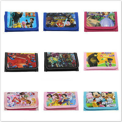 Hot Disney Cartoon Fantasy Purses Wallets Children Gifts Multi Color New