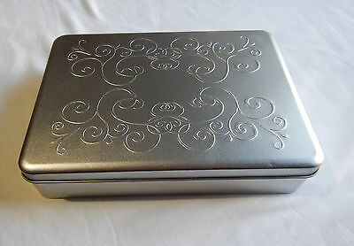 Silver Biscuit Or Chocolate Tin