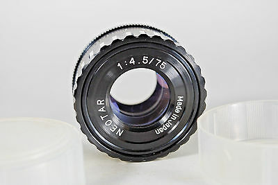 75MM 75/4.5 NEOTAR ENLARGING LENS  39MM THREAD with Case  Made in Japan