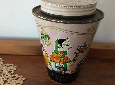 Collectable Advertising Old Air India Tea Tin Caddy Airline Air-India Tea Board
